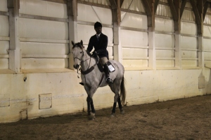 Joseph on Dunkin in Advanced Walk Trot Canter