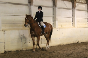 Bella on Hamilton in Advanced Walk Trot Canter